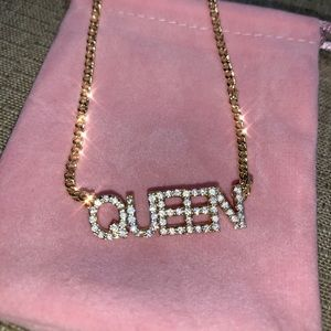 Jewelry - Gold plated w/Cubic Zirconia Custom name necklace